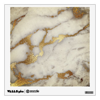Gold White Gray Ivory Brozn Marble Stone Abstract Wall Sticker