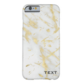 Gold & White Marble Glam Designer Modern Style Barely There iPhone 6 Case