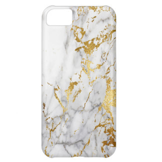 Gold White Marble Urban Trending iPhone 5C Cover