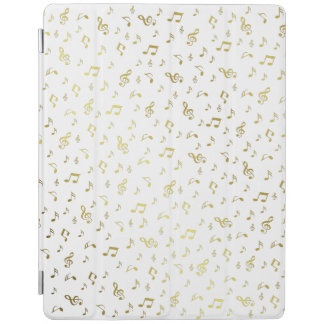 gold white,music, musical,cases, note, black, iPad cover