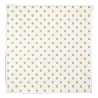 Gold White Polka Dots Duvet Cover