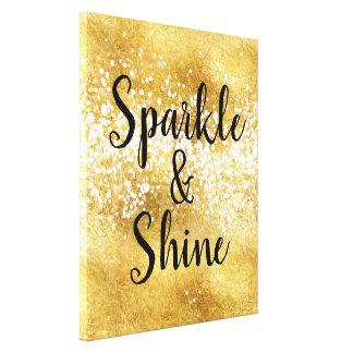 Gold White Sparkle Shine Canvas Print