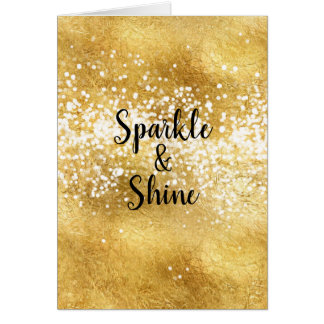 Gold White Sparkle Shine Card