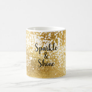 Gold White Sparkle Shine Coffee Mug