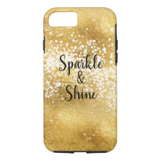 Gold White Sparkle Shine iPhone 8/7 Case
