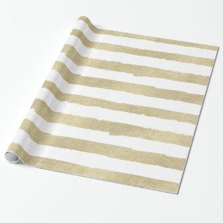 Gold White Stripes