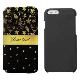 Gold Wildflowers and Scattered Triangles Incipio Watson™ iPhone 6 Wallet Case