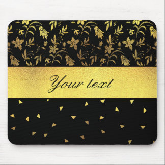 Gold Wildflowers and Scattered Triangles Mouse Pad