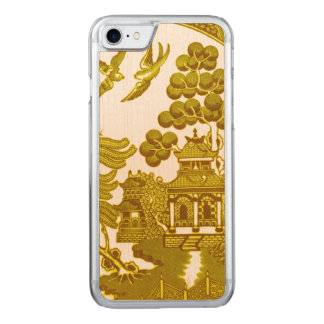Gold willow pattern carved iPhone 8/7 case