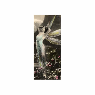 Gold Winged Fairy/Faerie Standing Photo Sculpture
