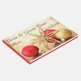 Gold Winter Christmas Wedding Guest Book