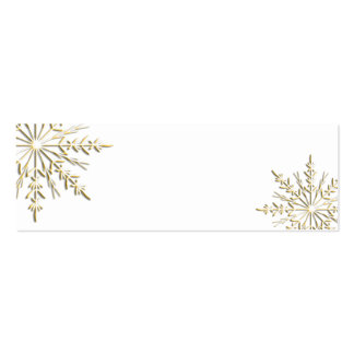 Gold Winter Snowflake Gift Tags Pack Of Skinny Business Cards