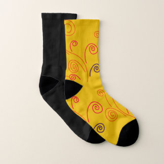 Gold winter Socks with black