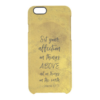 Gold with Bible Verse Clear iPhone 6/6S Case