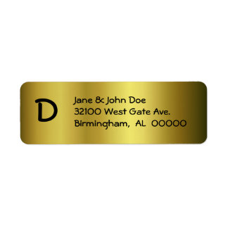 Gold With Monogram Address Labels