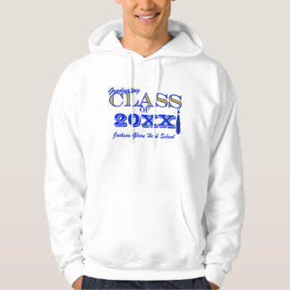 Gold with Royal Blue Custom Class Hoodie