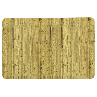 Gold Wood Floor Mat