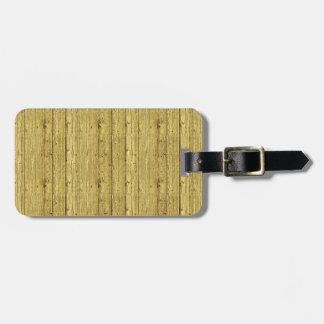 Gold Wood Luggage Tag