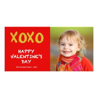 Gold XOXO | Valentine's Day Photo Card