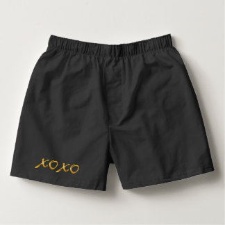 Gold X's & O's Boxers