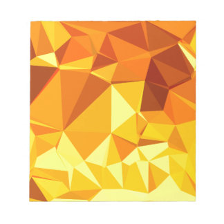Gold Yellow Banana Abstract Low Polygon Background Notepad