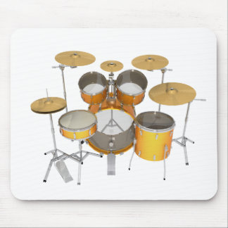 Gold / Yellow Drum Kit: Mouse Pad