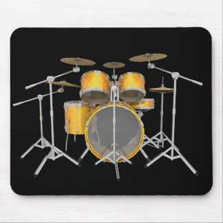 Gold / Yellow Drum Kit: Mousepad