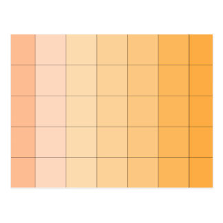 Gold Yellow Square Ombre Customizable 2 Postcard