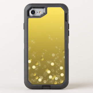 Gold Yellow Starry OtterBox Defender iPhone 8/7 Case