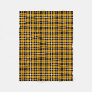 Gold/Yellow white/black stripe Fleece Blanket