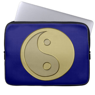 gold yin yang laptop sleeve