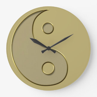 gold yin yang large clock