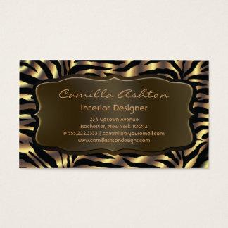 Gold Zebra Business Cards