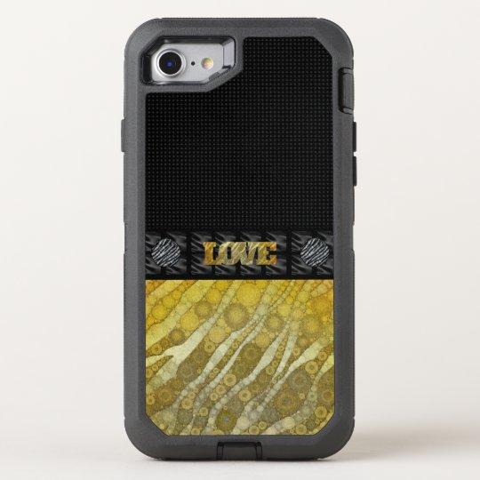 Gold Zebra Love OtterBox Defender iPhone 7 Case