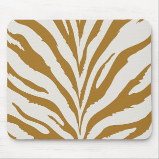 Gold Zebra Pattern Mouse Pad