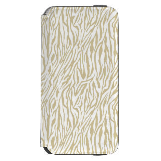 Gold Zebra Print Incipio Watson™ iPhone 6 Wallet Case