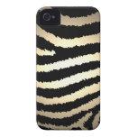 Gold Zebra Print iPhone 4 Case