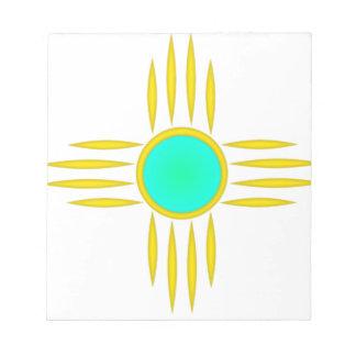 Gold Zia Sun Symbol Notepads