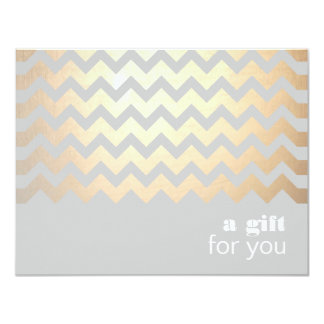 Gold Zig Zag Pattern and Gray Gift Certificate Card