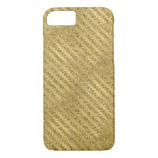 Gold Zigzag Ric Rak Sparkle Metallic iPhone 7 Case