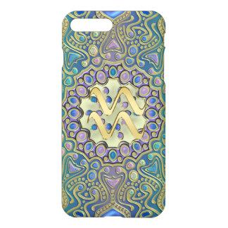 Gold Zodiac Sign Aquarius Mandala iPhone 8 Plus/7 Plus Case
