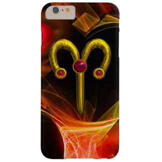 GOLD ZODIAC SIGN ARIES, Red Yellow Fractal Swirls Barely There iPhone 6 Plus Case