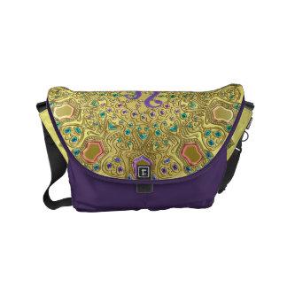 Gold Zodiac Sign Leo Mandala Commuter Bag