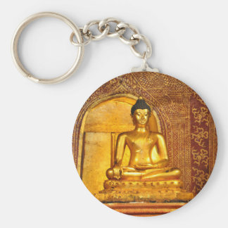 goldbudha_front.JPG Basic Round Button Keychain
