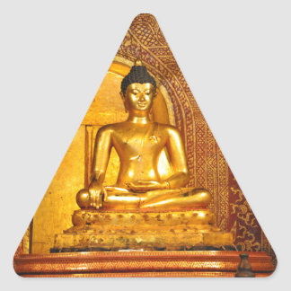 goldbudha_front.JPG Triangle Sticker