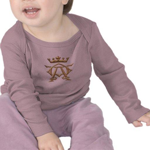"Golden ""3-D"" Alpha and Omega w/Crown Symbol T-shirt"