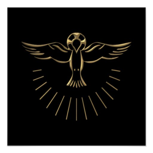 "Golden ""3-D"" Ascent of The Holy Spirit Print"