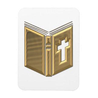 "Golden ""3-D"" Bible / Prayerbook / Hymnal Rectangular Photo Magnet"