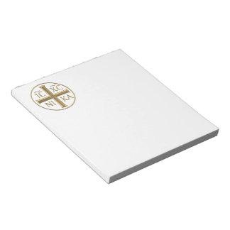 "Golden ""3-D"" Jesus Christ: Conquers Notepad"