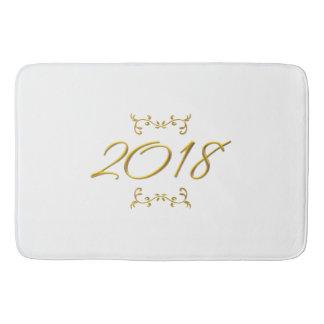 Golden 3-D Look 2018 Bath Mat Template